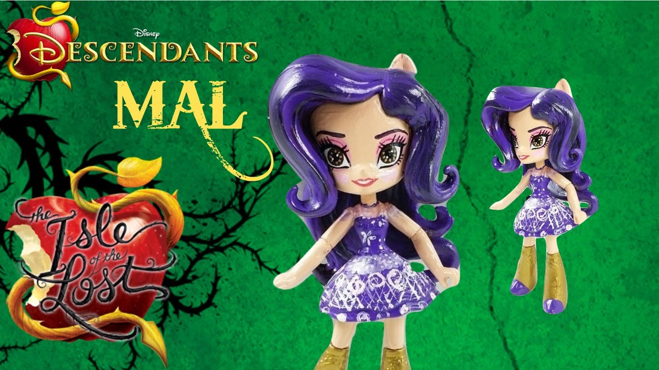 Mal Isle Of The Lost Disney Descendants 2 Disney Doll Purple Green Figure