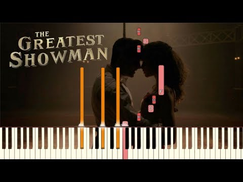 "The Greatest Showman - ""Rewrite The Stars"" [Piano Tutorial] (Synthesia)"
