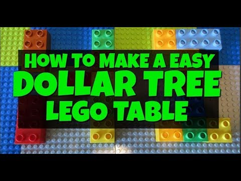 How To Make A Easy Dollar Tree Lego Table
