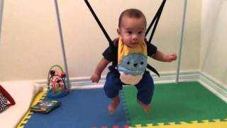 5 month old baby loves jolly jumper
