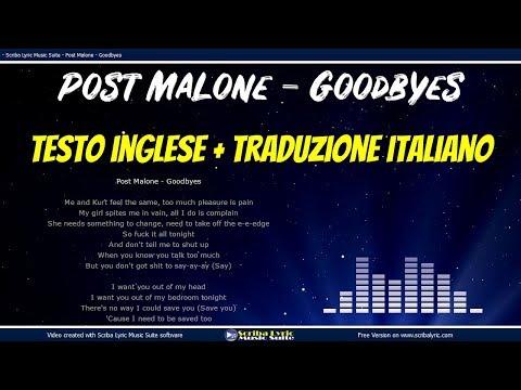 Post Malone - Goodbyes - Lyrics / Video lyric testo e traduzione in italiano