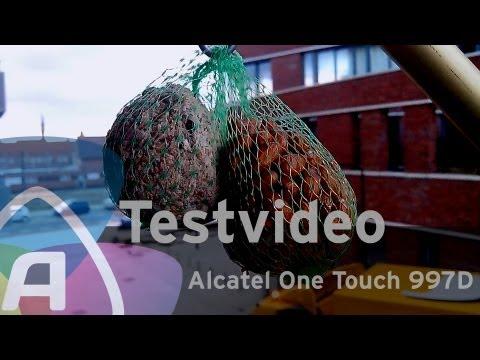 Alcatel One Touch 997D testvideo (Dutch)