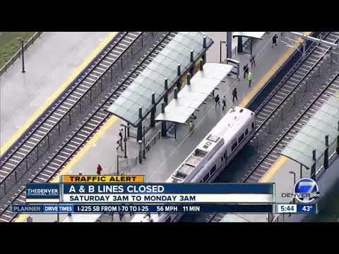 A & B lines closed this weekend