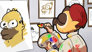 Vanoss will never stop drawing Homers until he makes the perfect one...
