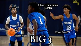 GA STARS 2023 Chase Clemmons DROPS 39 along side Isaiah West & Ethan Davis👀😳