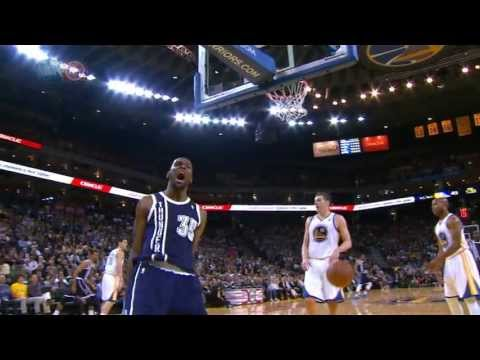 Westbrook's block leads to Durant's BIG slam!
