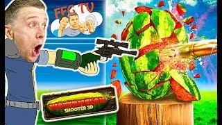 Стреляем по АРБУЗАМ Вызов ЧЕЛЛЕНДЖ Попробуй попади в Арбуз Летсплей от FFGTV веселое игровое видео