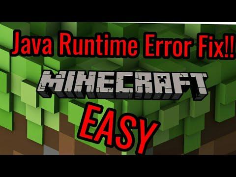 How To Fix Java Runtime Error Minecraft 2018 - YouTube