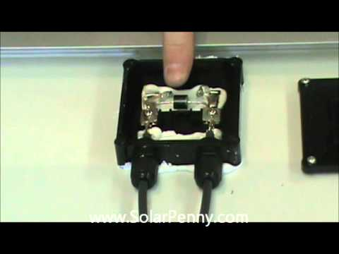solar panel junction box inside and out - solar panel basics