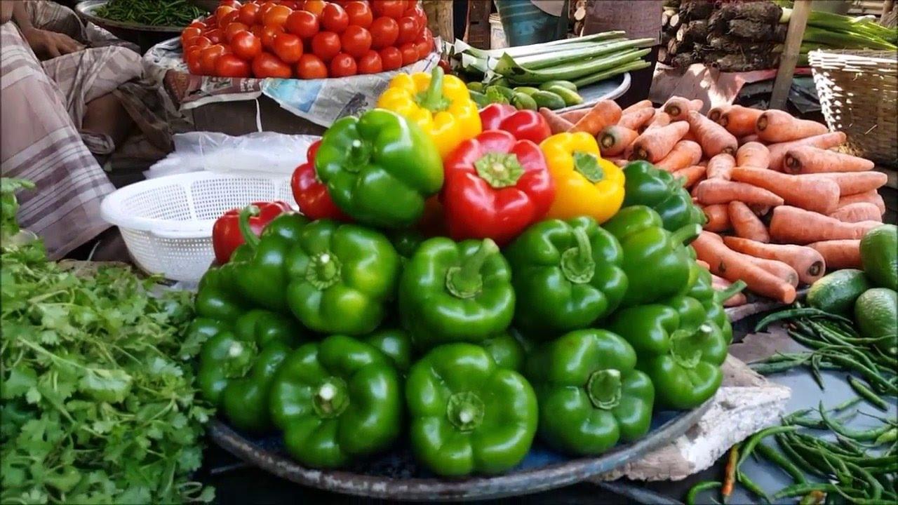 Fresh vegetable Market in Bangladesh। Amazing Fresh Morning Vegetables  Market Dhaka Bangladesh