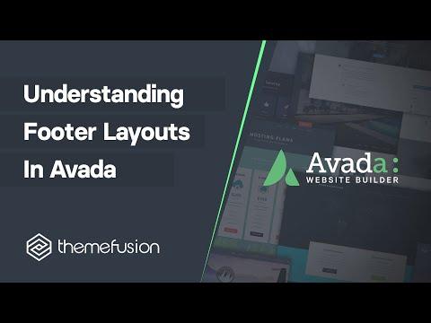 Understanding Footer Layouts in Avada Video