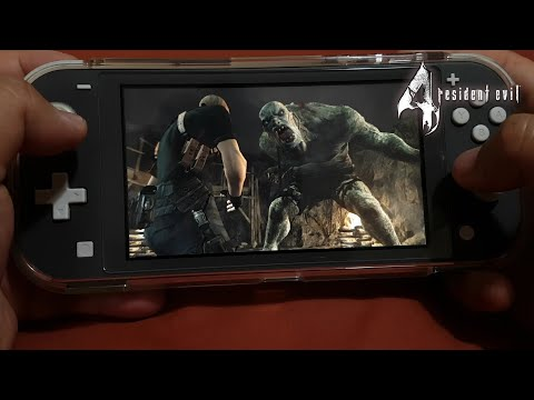 Resident Evil 4 on Nintendo Switch Lite Part 7 || El Gigante Boss Fight