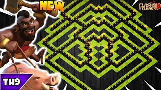 NEW TOWN HALL 9 DARK FARMING/TROPHY BASE 2018! TH9 HYBRID BASE WITH REPLAYS!! - CLASH OF CLANS(COC)