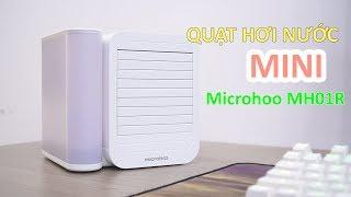 Quạt Hơi Nước Mini Microhoo MH01R - Khay Đá 1L - Bảng Điều Khiển Điện Tử - Tốc Độ Cực Mạnh 3 Chế Độ