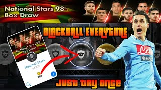 Black Ball Trick In National Stars 98 Box Draw | 100% Working Anytime | PES 2018 MOBILE