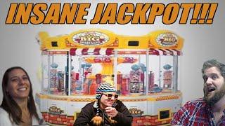 Craziest Arcade Jackpot Ever! Big Sweetland Huge Win -ClawStruck