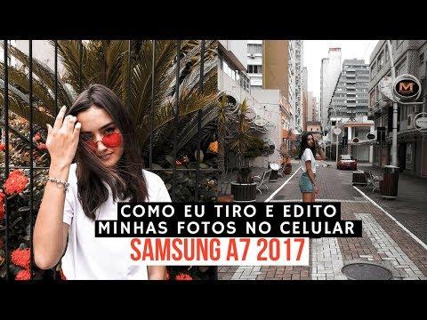 COMO EU TIRO E EDITO MINHAS FOTOS NO MEU CELULAR (SAMSUNG A7 2017) Dia de fotos