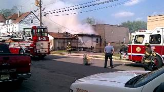 Hobby Shop Fire, Paterson NJ. 6-17-12 Part 2