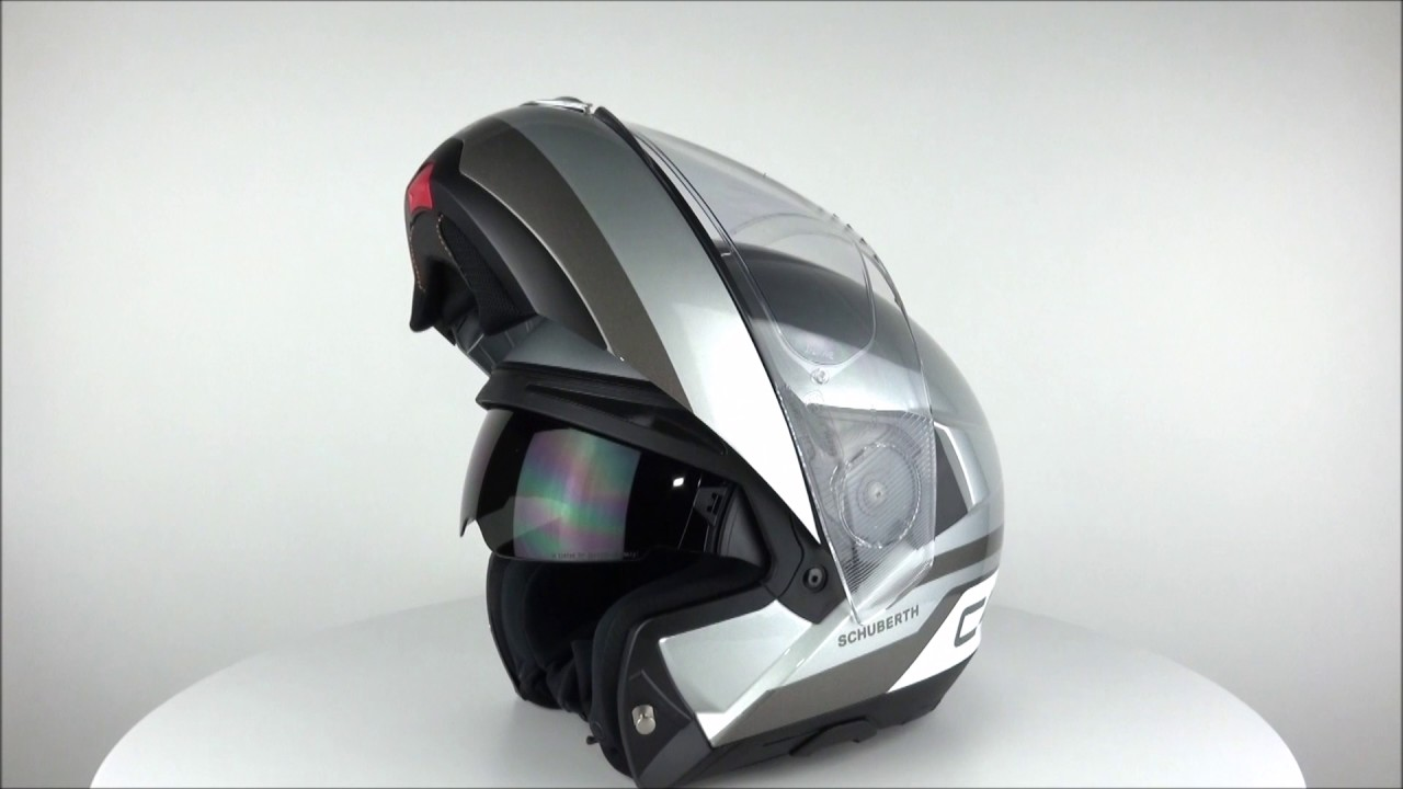 schubert c4 pulse silver helmet champion helmets youtube. Black Bedroom Furniture Sets. Home Design Ideas