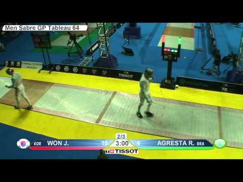 Moscow 2015 MS GP T64 11 yellow Agresta R BRA vs Won J KOR