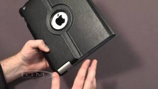360 Degree белый кожаный чехол для iPad 2