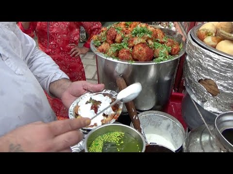 Dahi Bhalla & Chaat Papdi 20 Rs   Panipuri 20 Rs 8 Piece   Best Chaatwala In Delhi Paharganj