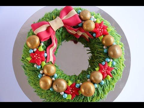 Christmas Wreath Cake Tutorial- Rosie's Dessert Spot