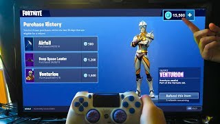 GUIDE to REFUND NEW SKINS for FREE VBUCKS! - Refunding VENTURION Skin in Fortnite: Battle Royale...