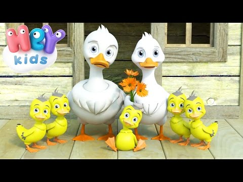 Five Little Ducks Went Out One Day  Nursery Rhymes  HeyKids