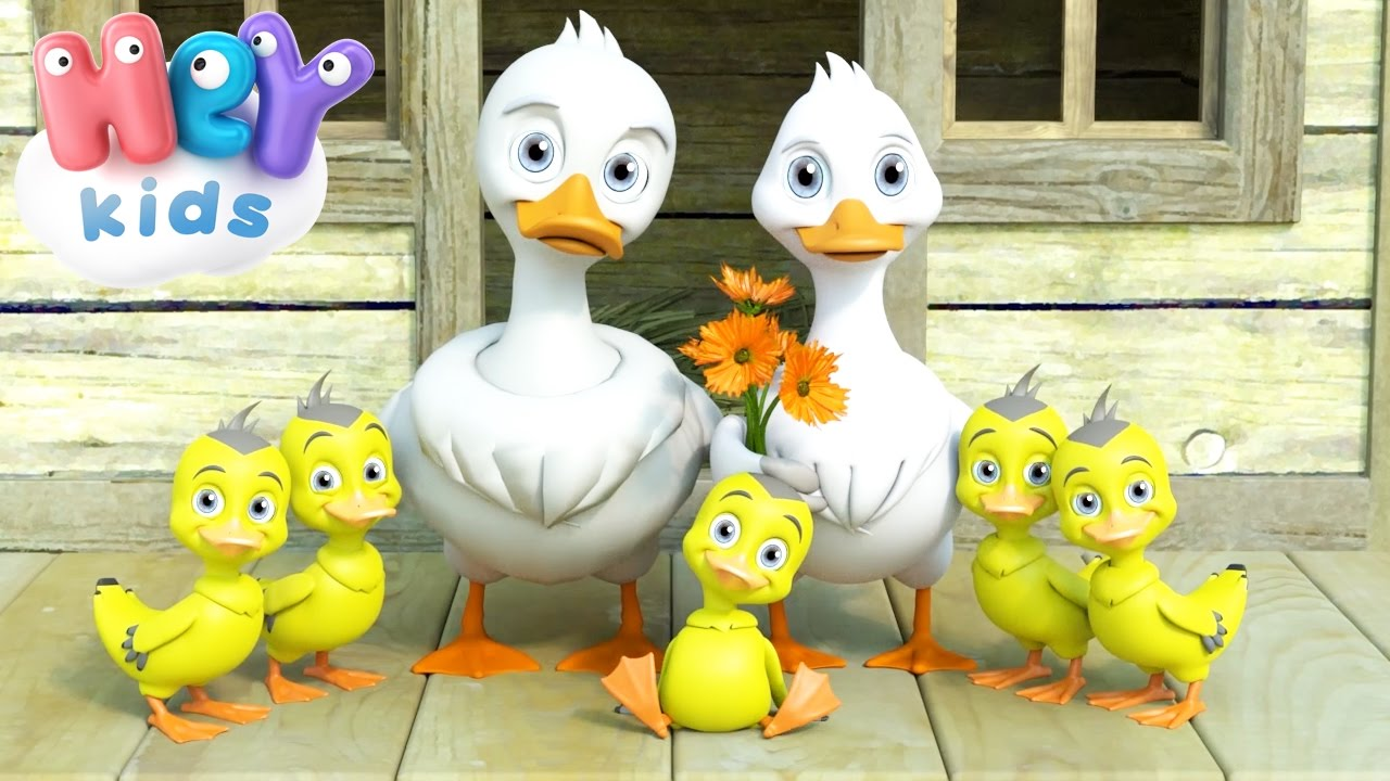 Five Little Ducks Went Out One Day Nursery Rhymes By Heykids