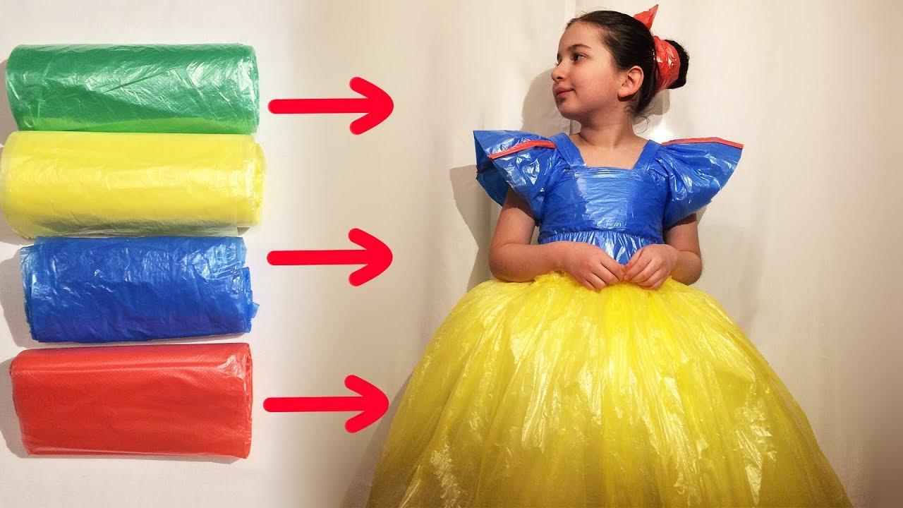 Платья из подручных материалов