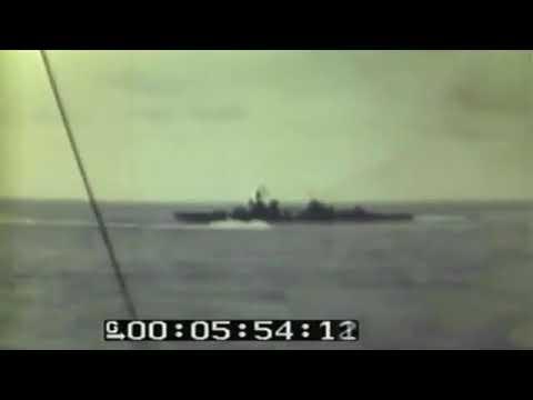 TASK FORCE BOMBARDS TARAWA ISLAND - GILBERT GROUP - 11-20-1943 - MUTED - COLOR