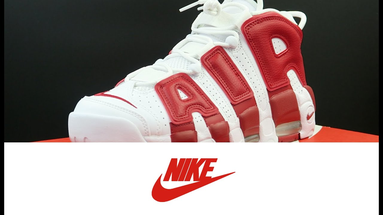 34d079ba0b Nike Air More Uptempo White  Gym Red - YouTube