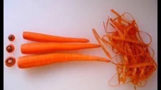 carrot shavings 🥕 Как сделать стружку из моркови  Еще один способ