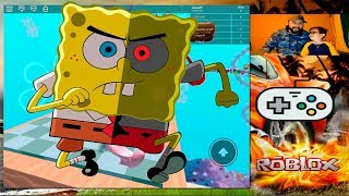 ESCAPING BOB SPONJA IN ROBLOX!! Playing With My Uncle Who Wins ? Children's Games