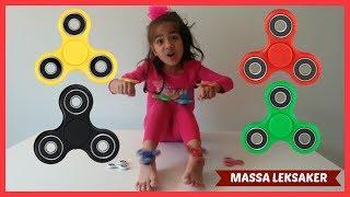 Fidget Spinner Tricks Svenska! Jag testar fidget Spinners! Lär Dig Färger med Fidget Spinners!