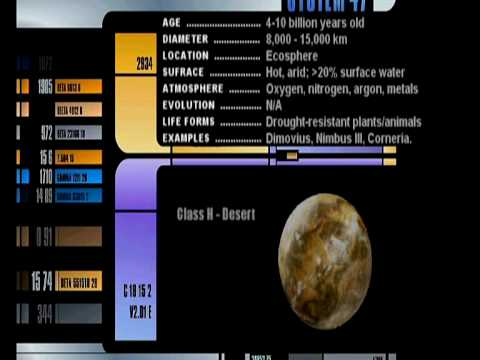 #01 Star Trek: Planetary Classification