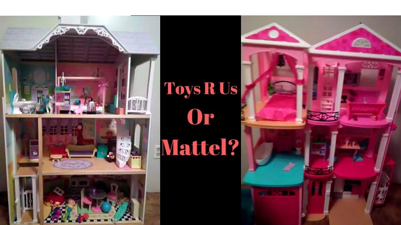 Toys R Us Dollhouse Vs Barbie Dollhouse Youtube