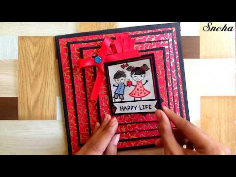 How to make scrapbook | scrapbook tutorial | birthday scrapbook | valentine scrapbook ideas