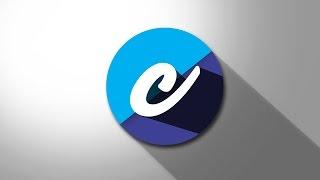 الأبجدية ج شعار التصميم التعليمي   كيفية إنشاء شعار الظل شقة في فوتوشوب CS6