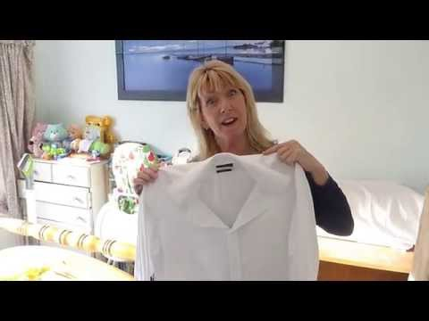 How to take a baggy shirt in, for a slimmer fit by adding darts. A very simple fix!