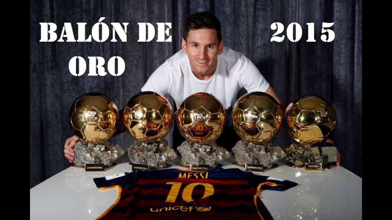 Messi Gana Su Quinto Balón De Oro Youtube