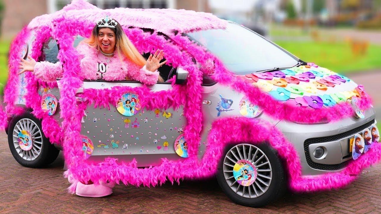 Jason और लडकियों के लिए गुलाबी कार | लड़कियों के लिए कार और लड़कों के लिए कार