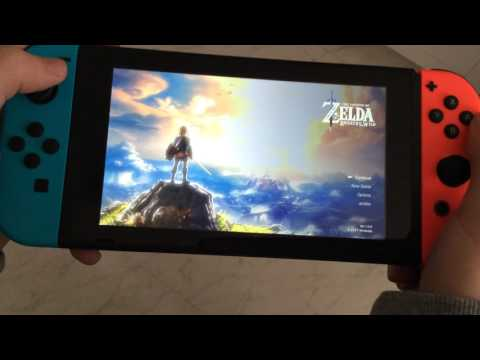 Turning Switch on and off, starting and closing Zelda on Switch