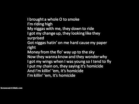 Homicide- Wiz Khalifa ft. Chevy Woods- With Lyrics!