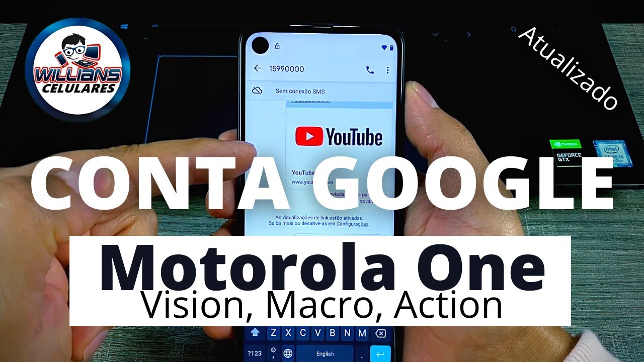 Remover Conta Google Motorola One Vision, Macro, Action e outros