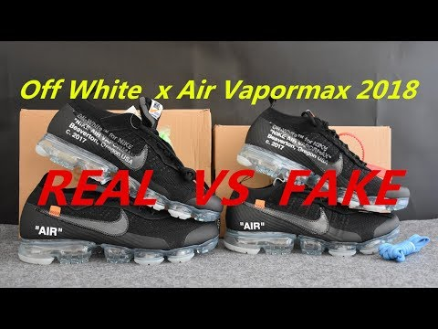 REAL VS FAKE Off White x Air Vapormax Black 2018 Detailed Comparison from SUPLOOK