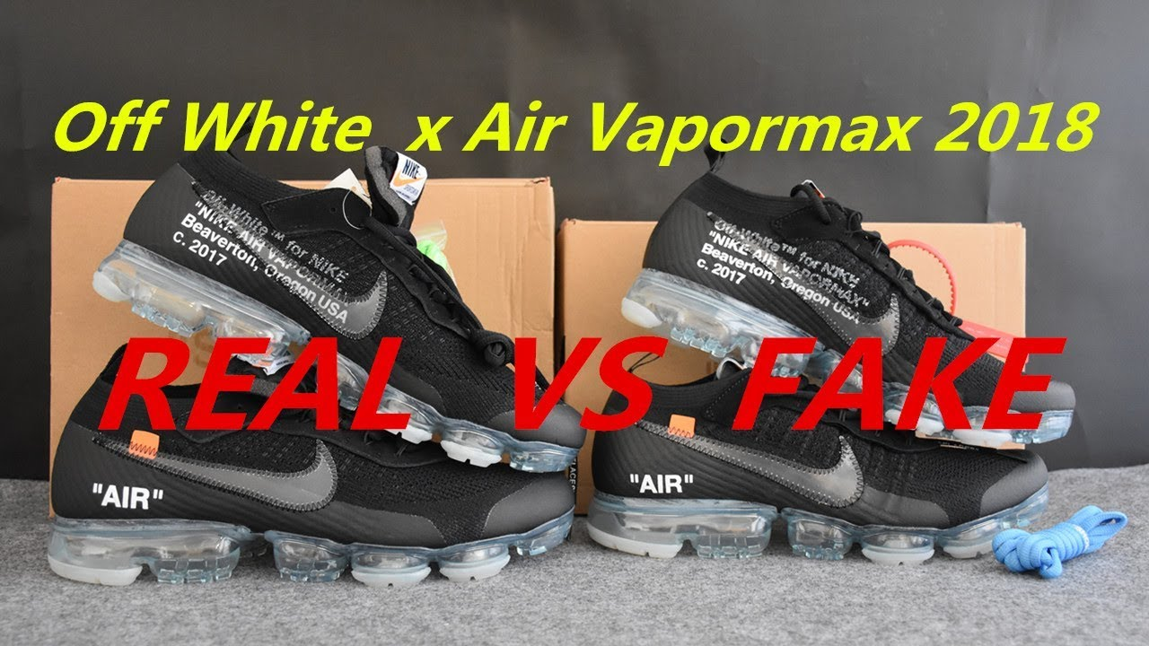 0dd396e259 REAL VS FAKE Off White x Air Vapormax Black 2018 Detailed Comparison from  SUPLOOK