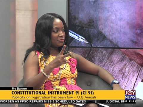 Constitutional instrument - My Banner on Joy News (21-4-16)