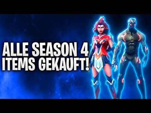 ALLE SEASON 4 ITEMS GEKAUFT! 🔥 LEVEL 100! | Fortnite: Battle Royale